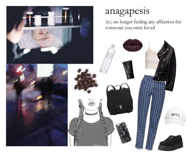 """anagapesis^"" by milda-mint on Polyvore featuring Topshop, Underground, October's Very Own, Winky Lux, Proenza Schouler, NARS Cosmetics and Casetify"