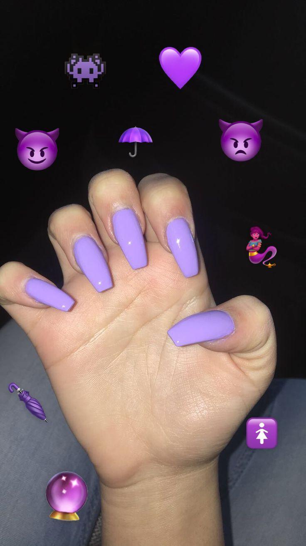Purple Nails Nails Purple Nagels Pastel Nagels Lila Nagels