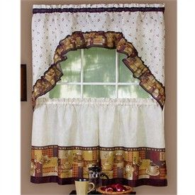 Kitchen Curtains With Coffee Theme CoffeTable