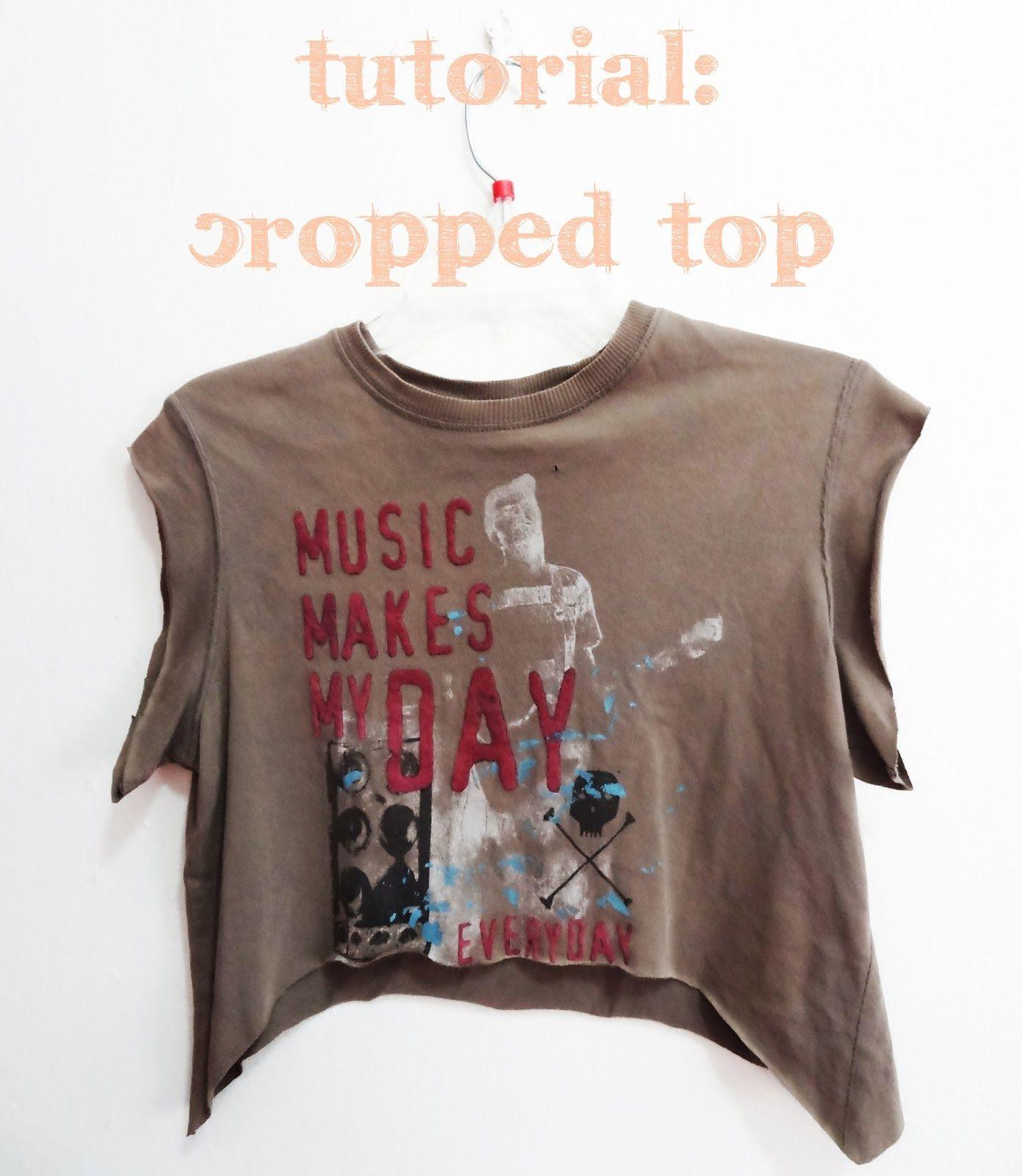 Travesías a un mejor YO: Tutorial - DIY Cropped Top con Camiseta Vie ...