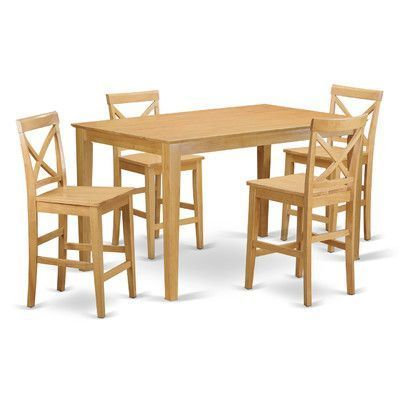 Charlton Home Smyrna 5 Piece Counter Height Pub Table Set | counter ...