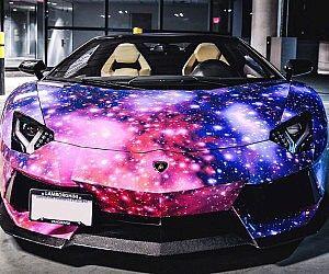 Galaxy Paint Job Lamborghini