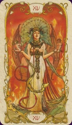 Image result for the devil tarot card mucha