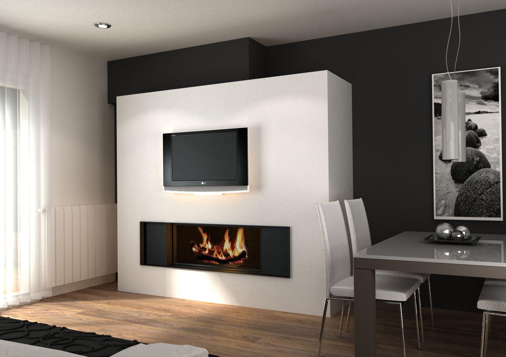 Imagenes de comedores modernos con chimenea buscar con google ideas para el hogar - Chimeneas minimalistas ...