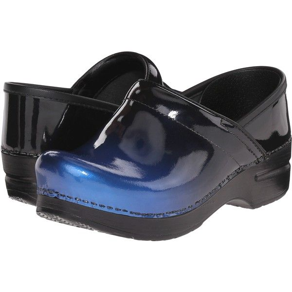 334cfc6118e Dansko Professional (Blue Ombre Patent) Women s Clog Shoes ( 108) ❤ liked  on Polyvore featuring shoes