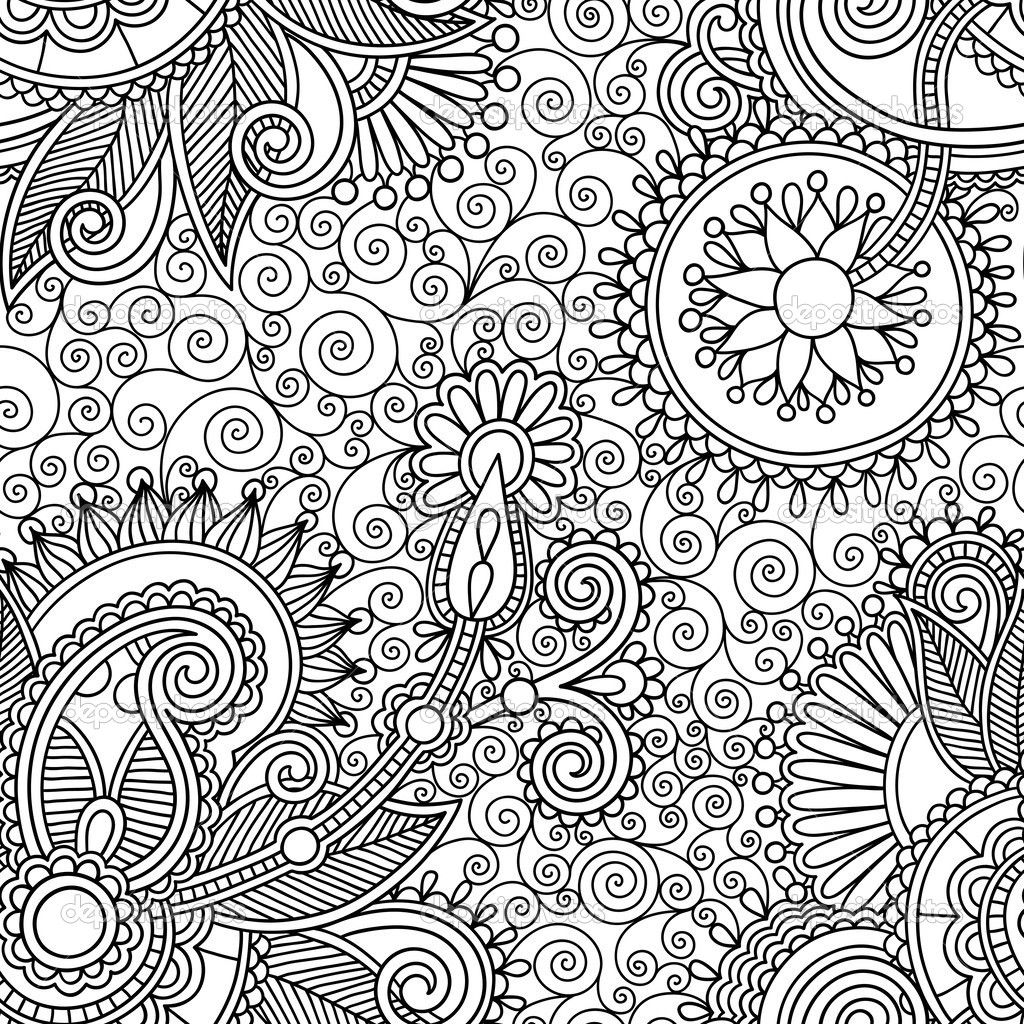 The wallpaper coloring book - Splendid Ornate Black And White Background Wallpaper Wallpaper