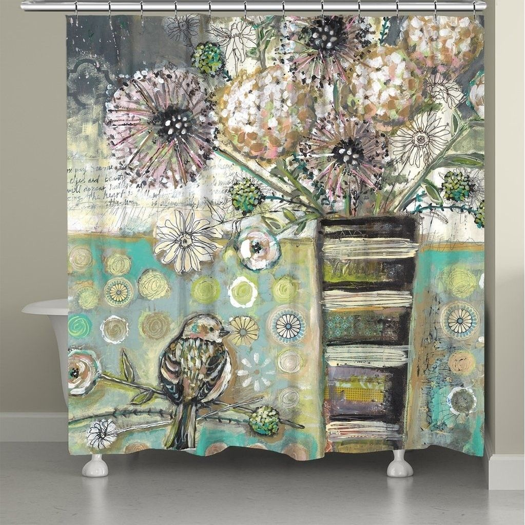 Bird And Bouquet Shower Curtain Multi Laural Home 71 X 72