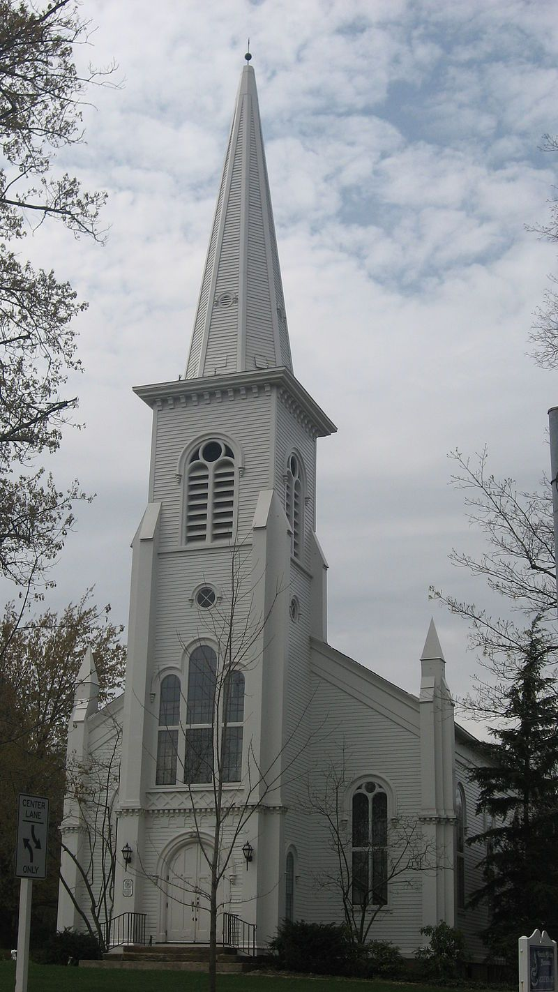Old South Church in Lake County, Ohio. Дом