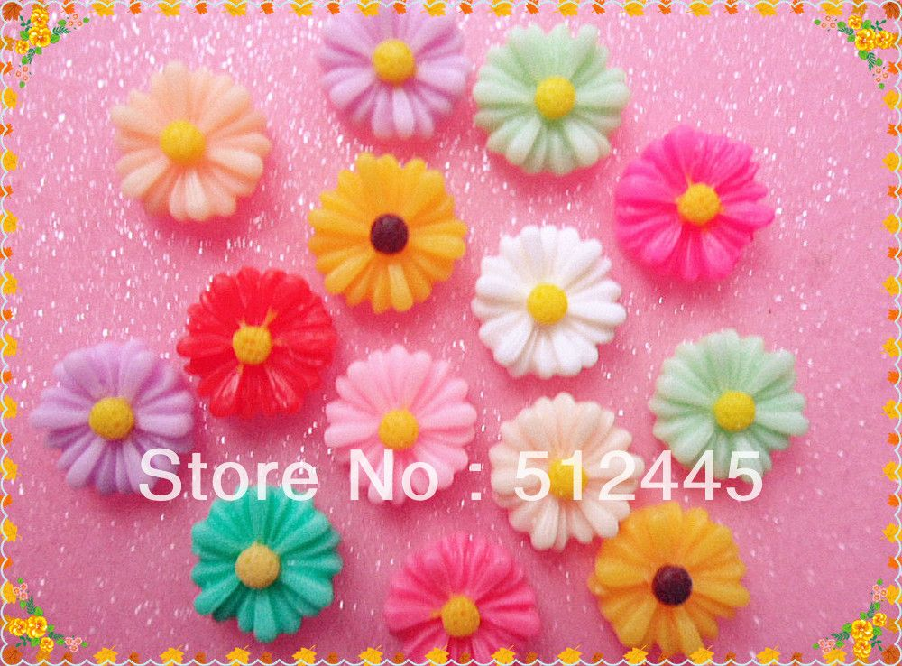 DIY 5//10//20pc Resin Daisy Flower Flat Back Scrapbooking For phone//craft 22MM