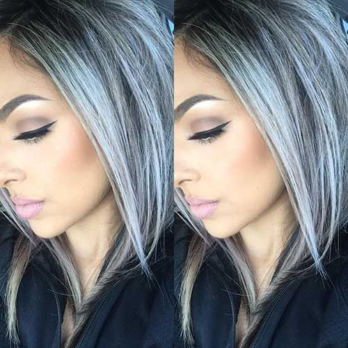 gray hair color hairstyles
