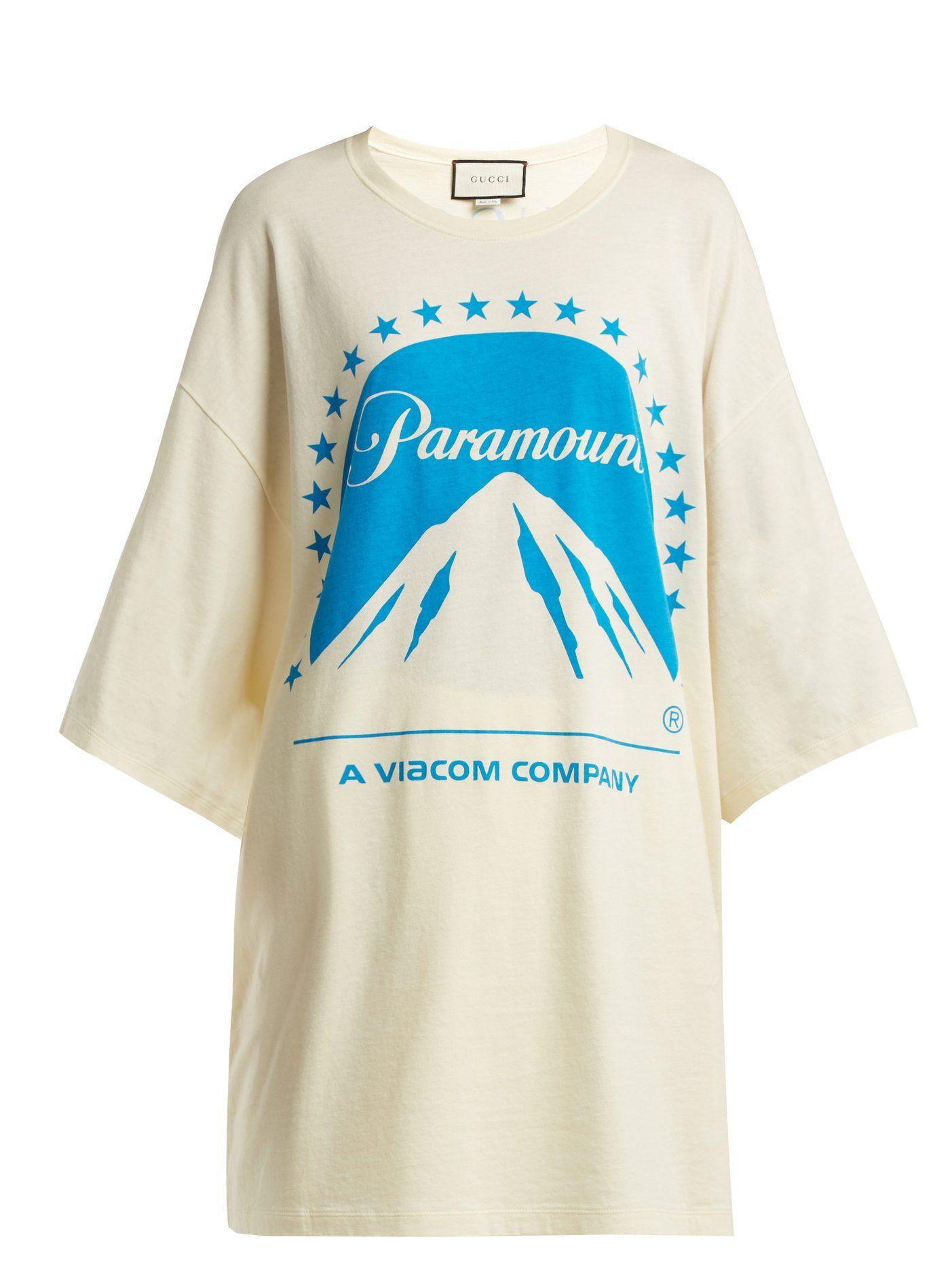 f0e1ba8a9 Paramount oversized cotton T-shirt | Gucci | MATCHESFASHION.COM ...