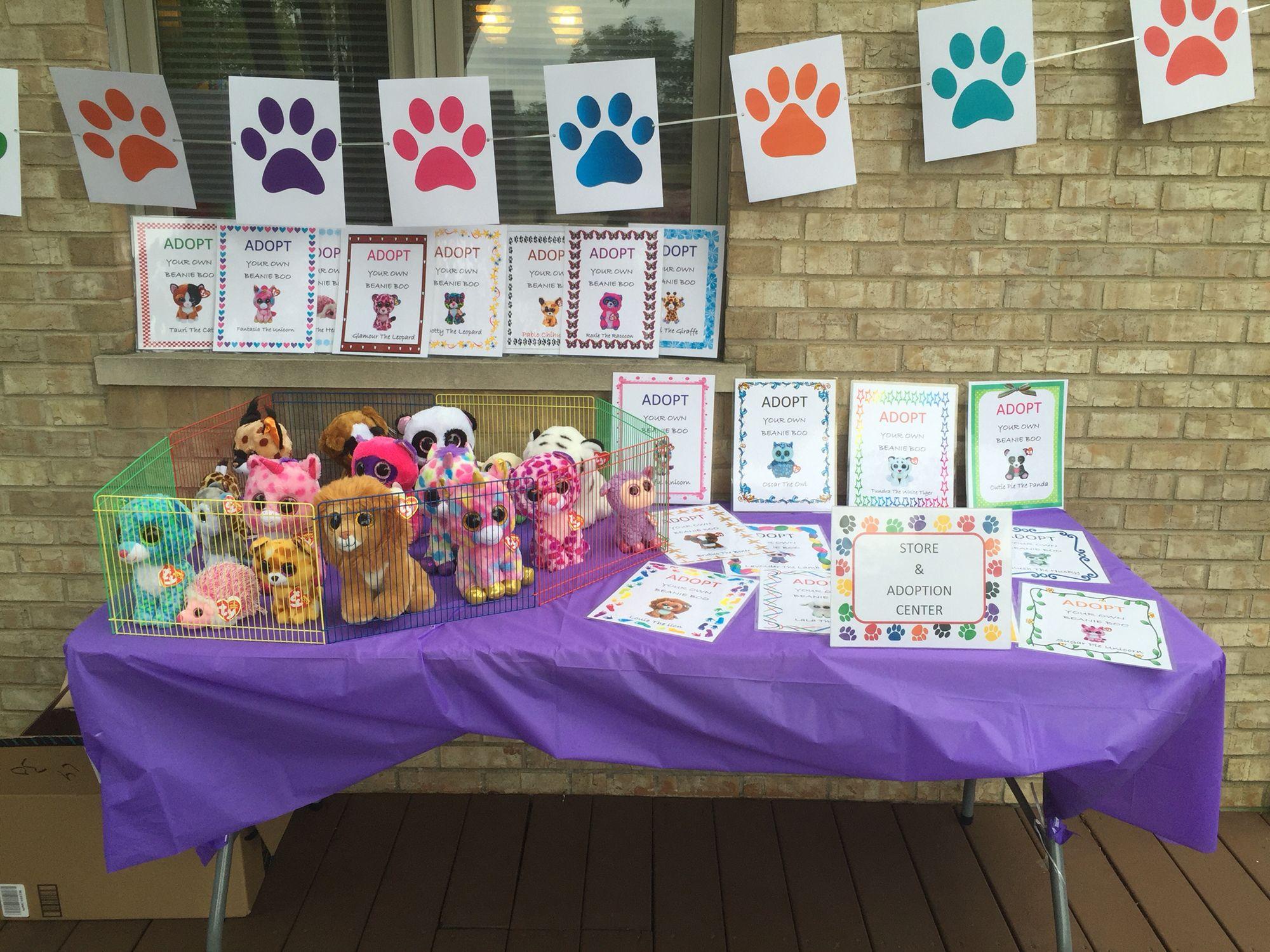 Beanie Boo Adoption Party Pet Adoption Birthday Party Pet Adoption Party Puppy Birthday Parties