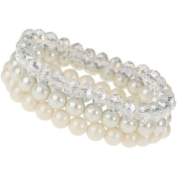 Dorothy Perkins Pearl Bracelet Pack (€9,71) ❤ liked on Polyvore featuring jewelry, bracelets, cream, pearl bangle, dorothy perkins, cream jewelry, pearl jewellery and beading jewelry
