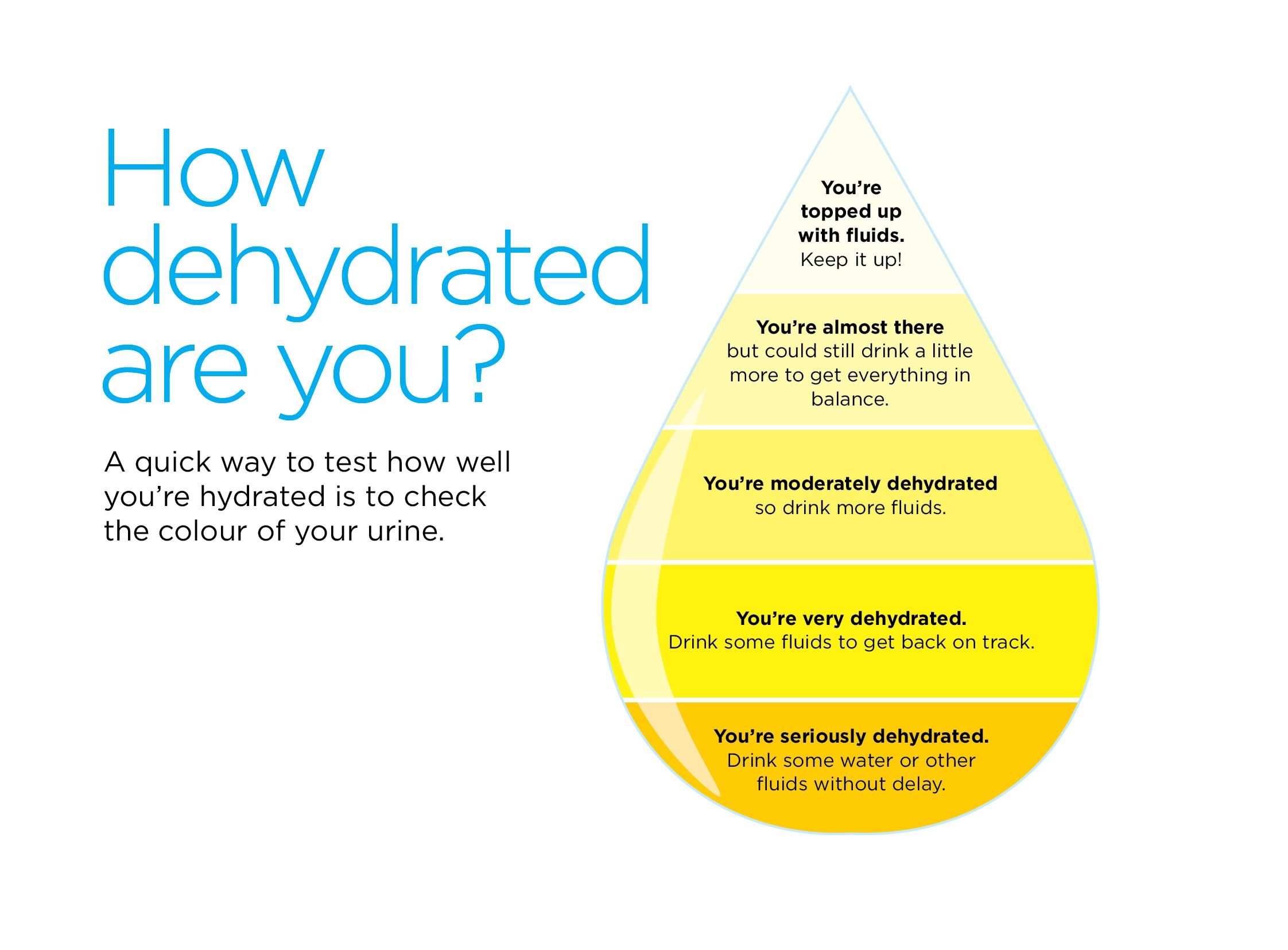 Image Showing Hydration Level By Urine Colour  Infographics