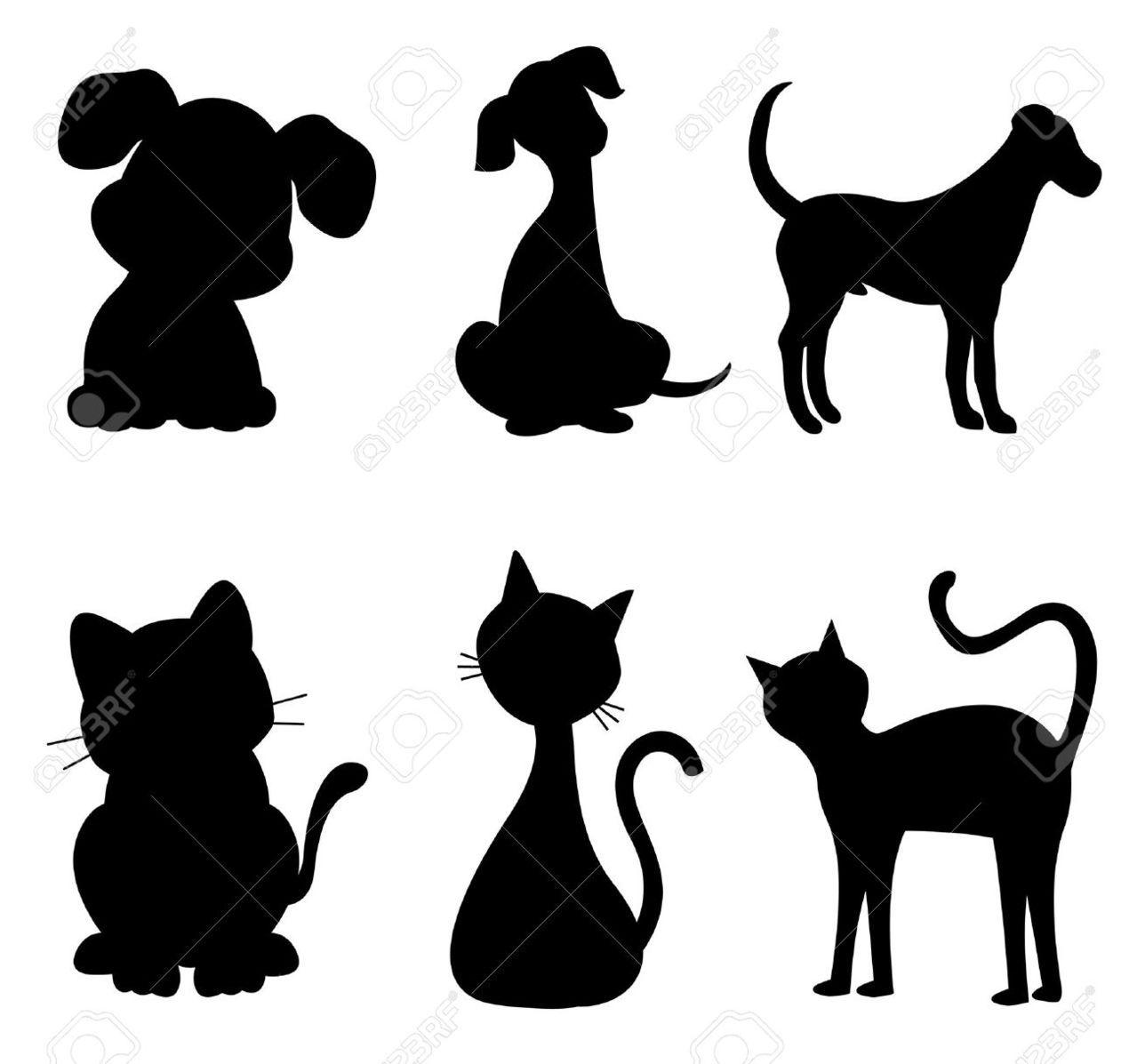 Disegno Cane Bianco E Nero.Disegni Stilizzati Cani E Gatti Disegni Di Cane Animali