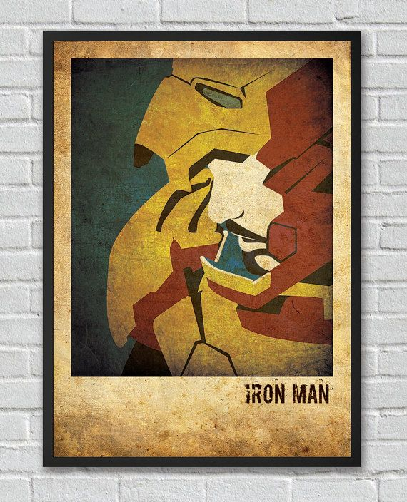 Iron Man The Avengers inspired vintage movie poster on ...