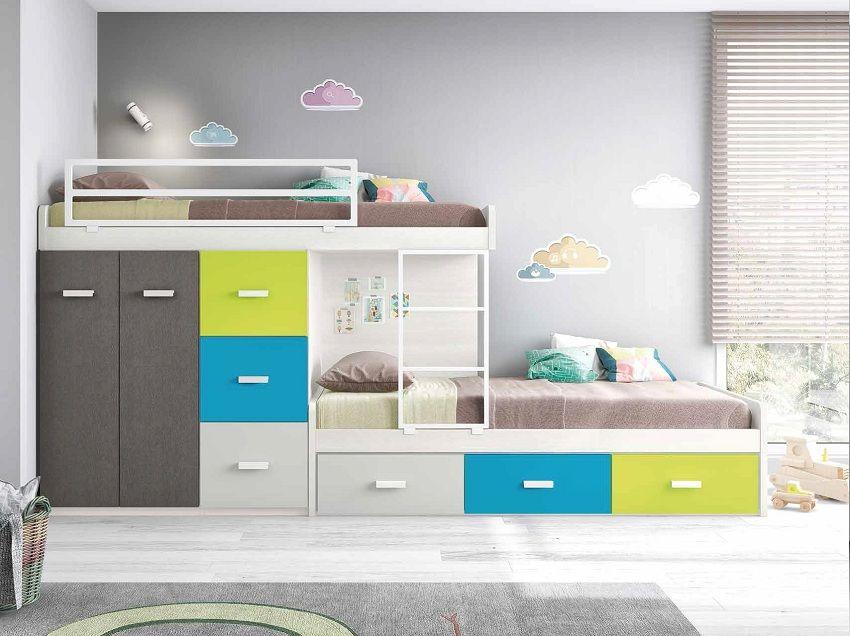 Tipos de literas para los dormitorios infantiles habitaciones infantiles pinterest literas - Literas para habitaciones pequenas ...