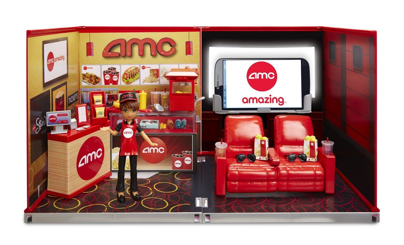 miWorld Deluxe Environment Set with Doll AMC Movie Theater     miWorld Deluxe Environment Set with Doll AMC Movie Theater