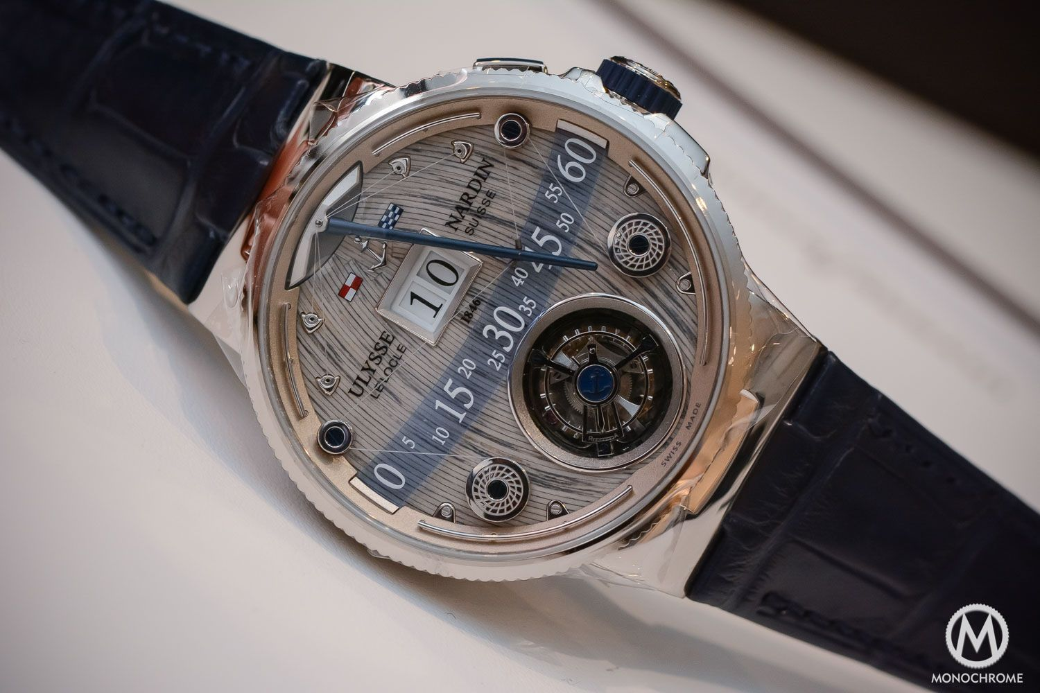 A Closer Look at the Ulysse Nardin Grand Deck Marine Tourbillon (Video, Live Photos, specs & price)