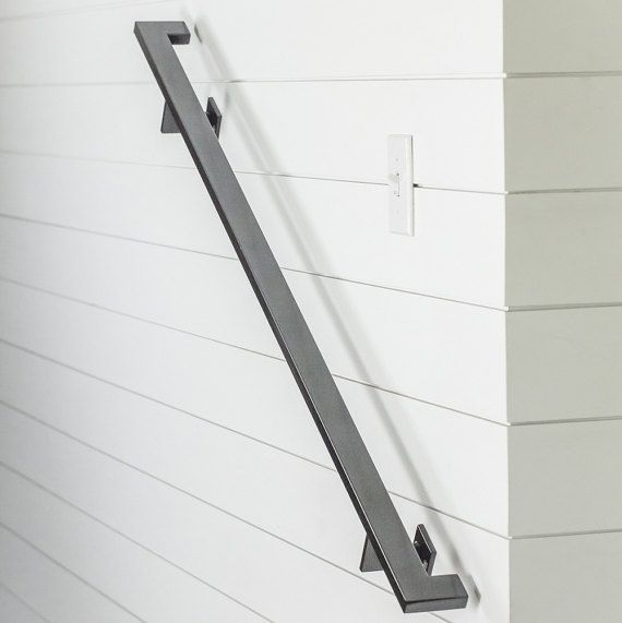 8 modern handrail 3 brackets tube steel hand rail on wall brackets id=54748