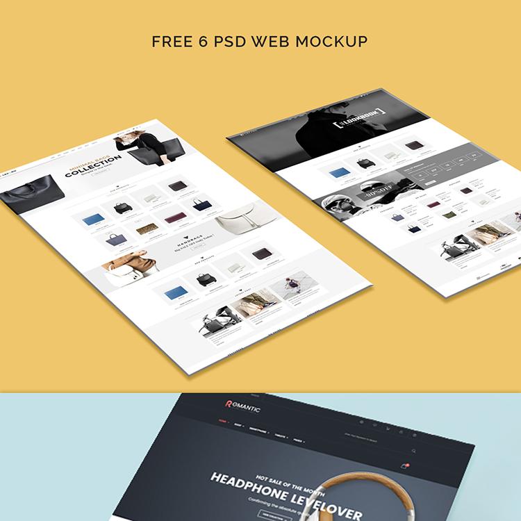 Website Mockup Psd Free: Free Web Template Mockup