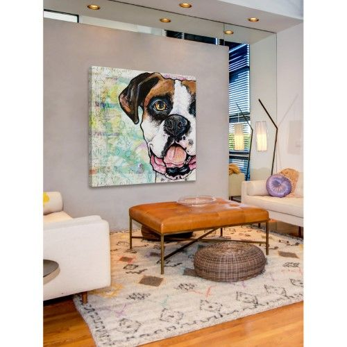 Marmont Hill Pop Art Boxer Painting Print On Wrapped Canvas White