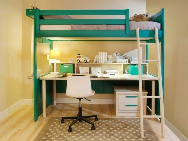 literas con escritorio debajo dormitorios juveniles