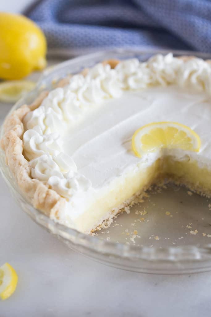 Lemon Sour Cream Pie Recipe Lemon Sour Cream Pie Lemon Recipes Lemon Pie Recipe