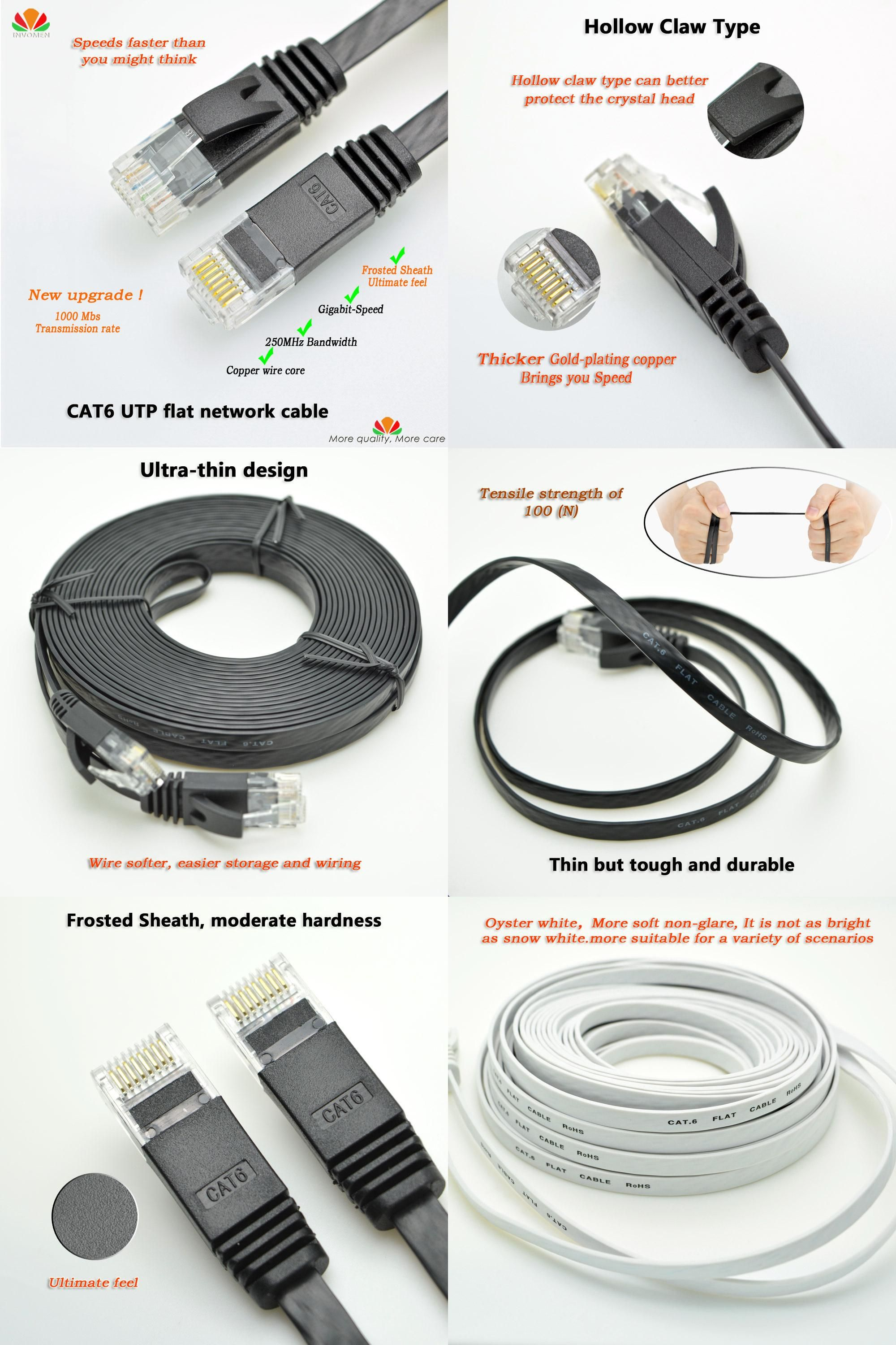 Visit To Buy 30m 50m Cat6 Ethernet Cable Flat Utp Network Also Cat 6 Wiring Diagram Further Rj45 Connector Gigabit