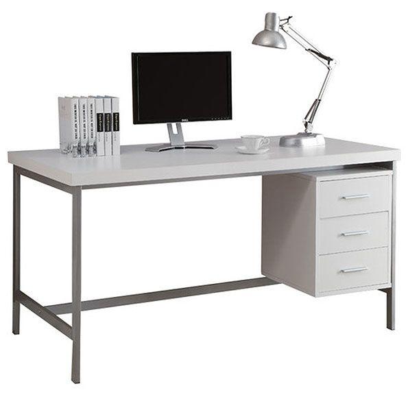 Brenden Desk White Computer Desk Design White Desks Desk
