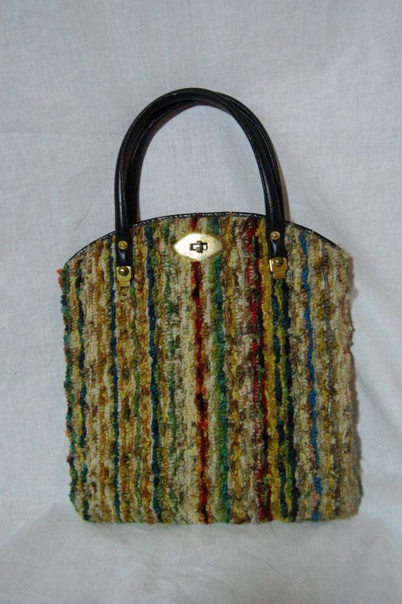 Rare CARPETBAG Original Vintage Handbag 1960s 1970s Carpet Bag Purse. $25.00, via Etsy.
