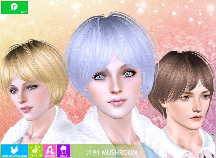 J194 Mushroom FREE bob hair by Newsea - Sims 3 Downloads CC