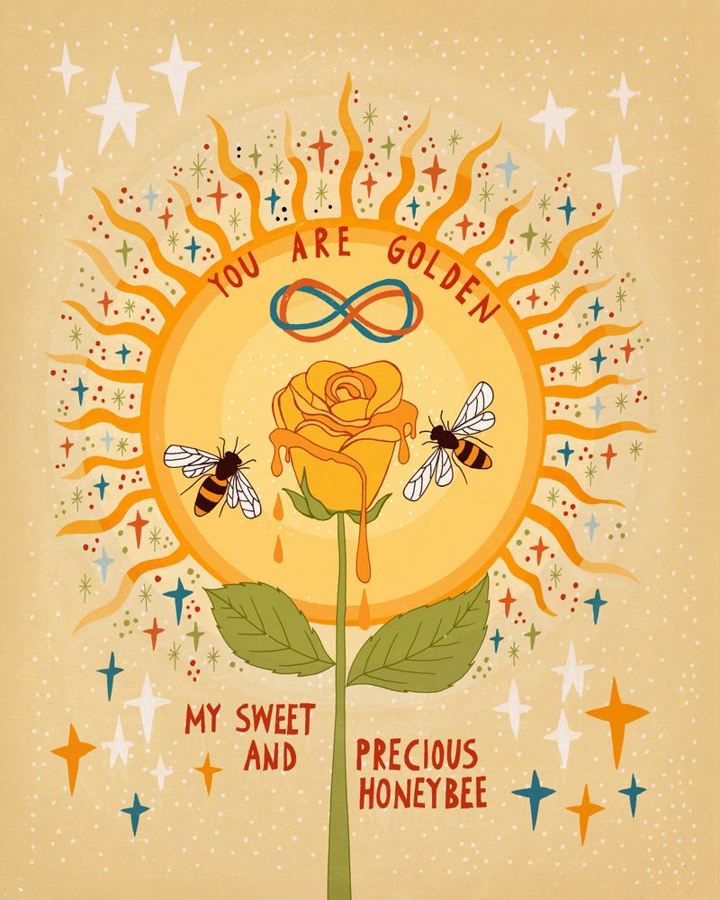 You are golden Mini Art Print by Asja Boros