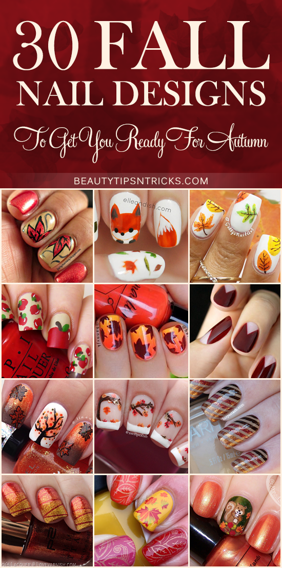 Feast Your Eyes On This Huge Collection Of Fall Nail Art Ideas 30 Gorgeous Fall Nail Art Nail Designs Fall Nail Designs