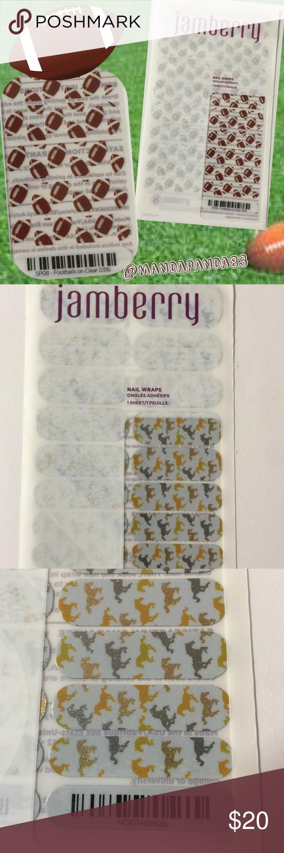 Jamberry Sparkle Horse Nail Wraps NWT 🐴 Glitter horse theme Jamberry nail wraps. Jamberry Accessories