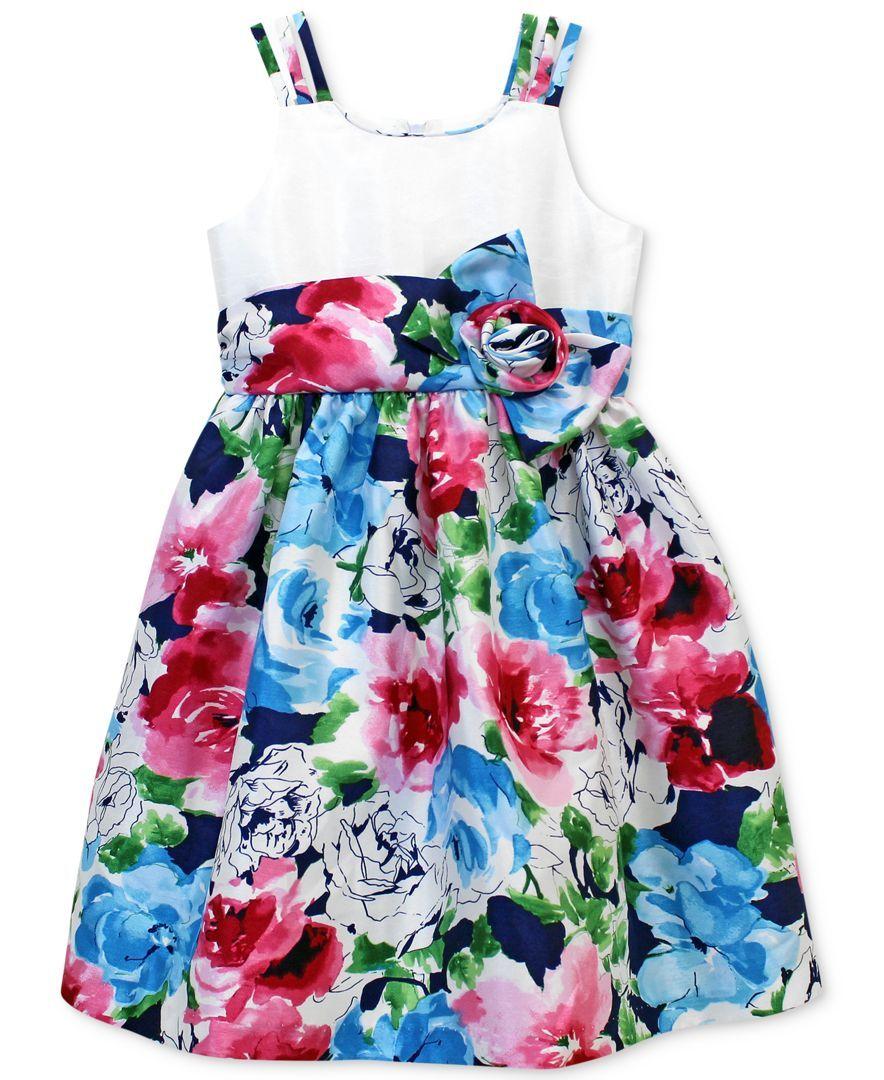 601aa6c39a2 Jayne Copeland Little Girls  Floral Print Dress