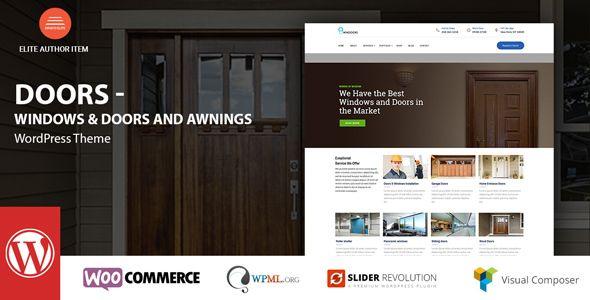 nice windows amp doors higher good quality wordpress theme