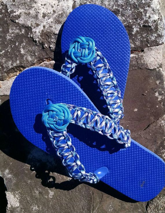 f9900dc3853570 Paracord Flip Flops by DapperDogBoutique on Etsy