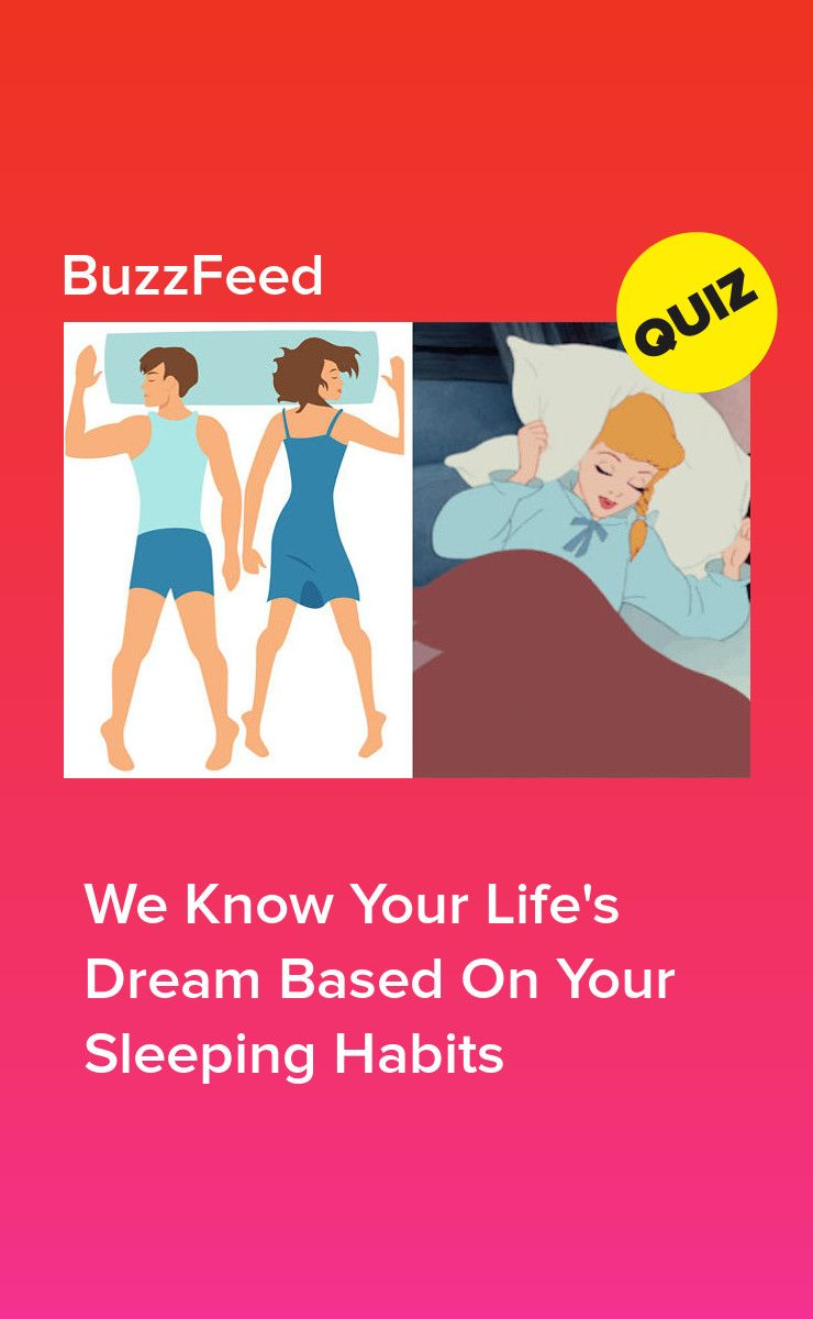 We Know Your Life's Dream Based On Your Sleeping Habits