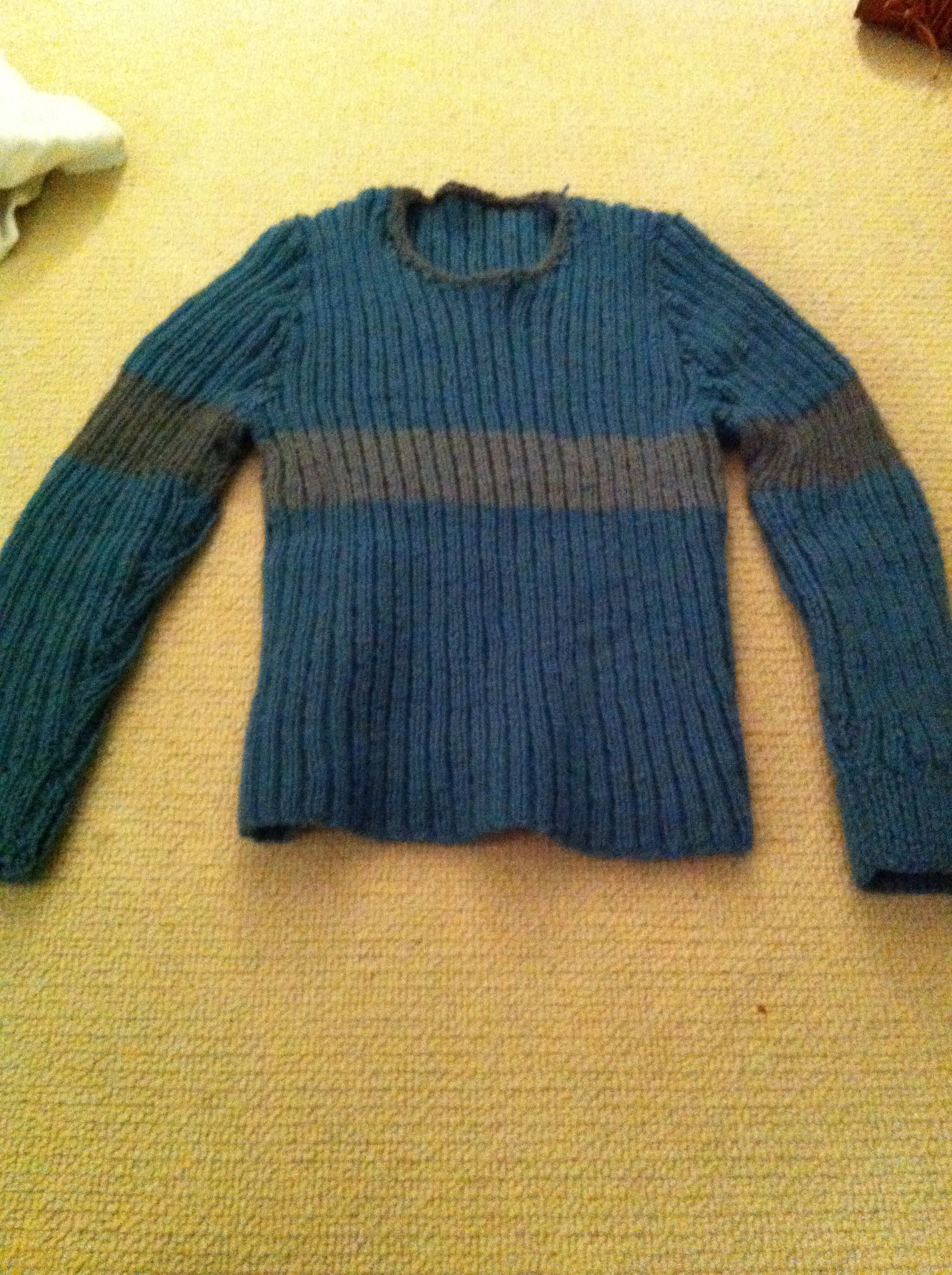 Ravenclaw Quidditch Sweater that I knit for myself! Its lovely and warm ...