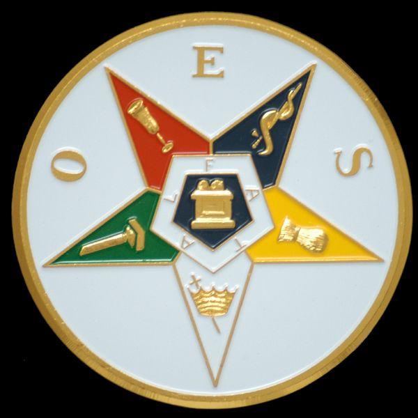 Freemasonry Order of the Eastern Star Auto Car Emblem Masonic Metal Sticker