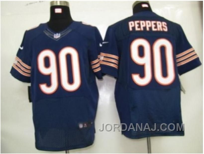 Nike Nfl Chicago Bears  90 Peppers Authentic Blue Elite Jerseys ... e9f550056
