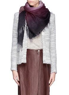 FALIERO SARTI'Nice' ombré virgin wool scarf