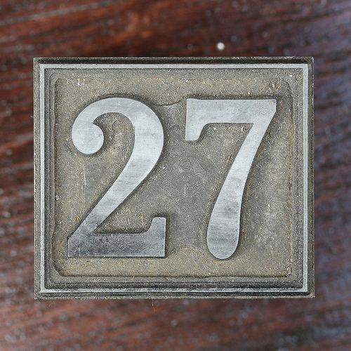 Calendar Number 27 Calendar Numbers Numbers Number 27