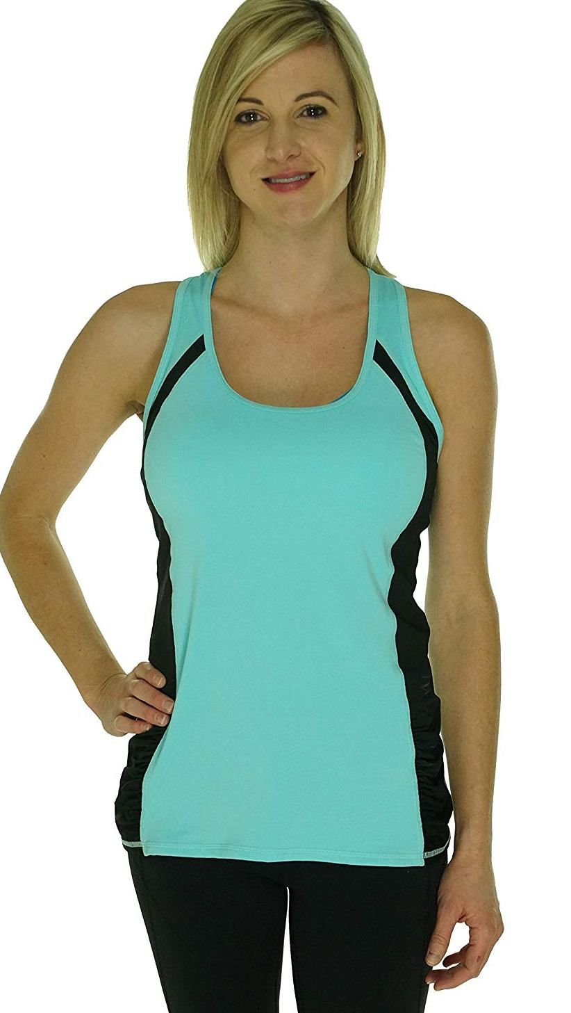 02e89b66a Ideology Women s Color block Tank Top. Built-in sports bra ...