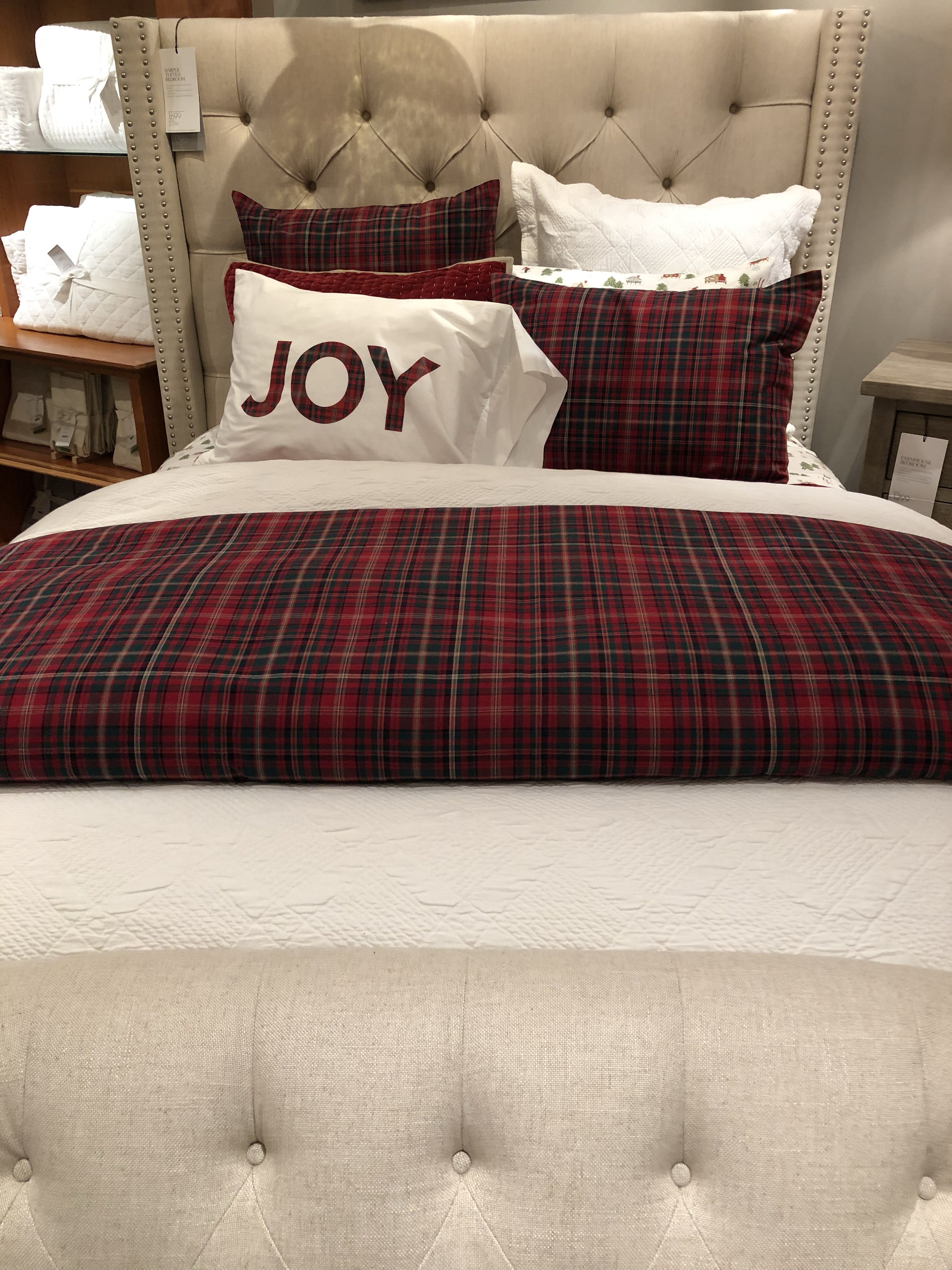 Holiday Bedding from Pottery Barn Holiday bed, Bed, Home