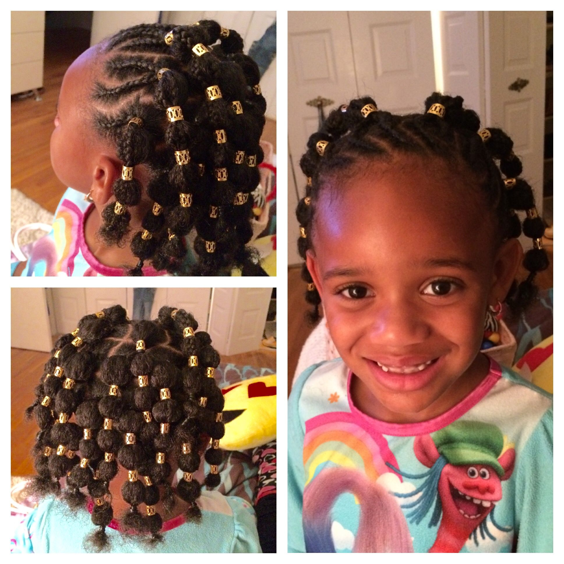 cute version of the bubble braids/ponytails look