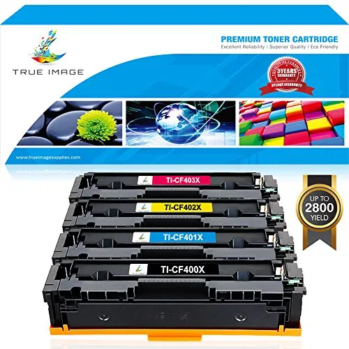 True Image 4 Packs Compatible For Hp 201x Cf400x 201a Cf400a Cf401a Cf402a Cf403a Toner Cartridge Ink For Hp Color Laserjet Pro Mfp M277dw M277n M277c6 M277 Hp In 2020 With