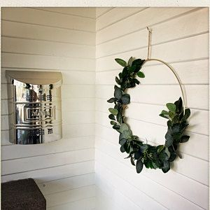 Photo of Floral wreath, modern fall wreath, spring wreath, blush nursery decor, modern nursery, gift for mom, boho nursery decor