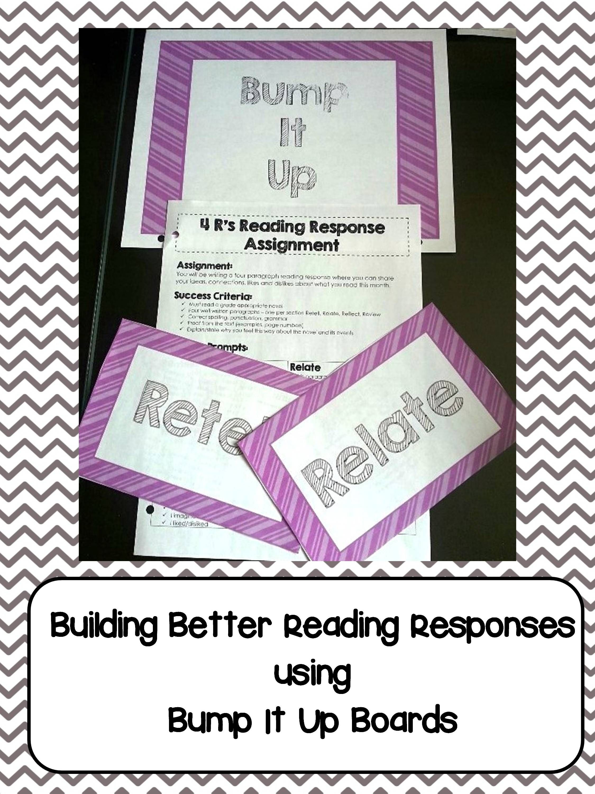 I Use The 4r S Reading Strategy And Bump It Up Boards To